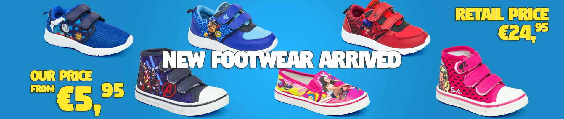 Wholesale footwear for children Disney licenses.
